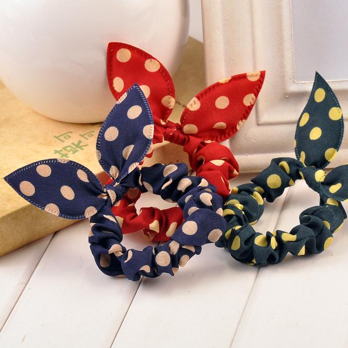 Hair Accessory Hair Accessories Fabric Bow Headband Hair Rope Rubber Band Hairwear(China (Mainland))