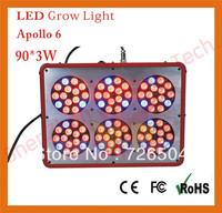 4pcs/lot Free shipping new 300W (90x3w) Apollo 6 Led grow light/indoor plant Led grow light