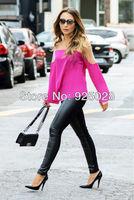 New 2014 women hot selling summer fashion casual patchwork ladies blouses blusas femininas free shipping