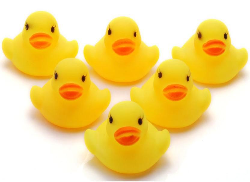 30PC Wholesale Bulk Lots Cute Rubber Ducks baby kids Children bath Toy 4x4x4.5CM(China (Mainland))