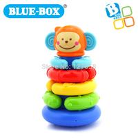 Bluebox infant educational toys Infant  rainbow tower rings  monkey Stacker 003726