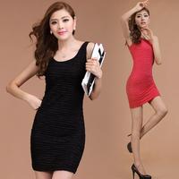 Women's Clothing 2014 spring slim tank dress small vest female small basic vest skirt one-piece dress S-XXXL
