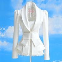 2014 spring slim long-sleeve women's blazer short design women's outerwear work wear blazer