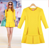 The new large size women's fashion dress was thin Slim