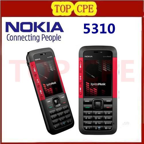 Original 5310 Nokia 5310 XpressMusic Bluetooth Java MP3 Player Phone Refurbished Freeshipping(China (Mainland))