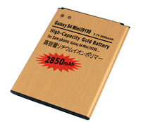 Gold 2850mAh Rechargeable Battery For Samsung Galaxy S4 Mini / i9190 Free Shiping