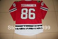 FREESHIPPING 2013 BLACKHAWKS #86  TERAVAINEN  RED JERSEYS  BLACKHAWKS   SZ 48 50 52 54 56 M L XL XXL XXXL