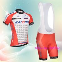 Free shipping 2015 katusha cycling jersey shorts custom design cycling clothing  accepted14#73