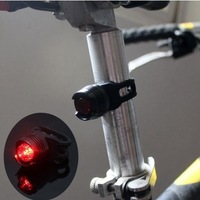 Bike Bicycle Red LED Rear Light 3 mode Waterproof Tail Lamp Quick Release