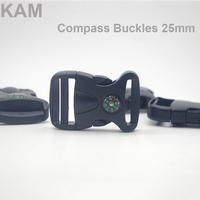 50 pcs KAM 25 mm Side Compass Arched  Plastic Release Buckle Bag Buckle Garment Accessory Buckle For Bracelets M372-25
