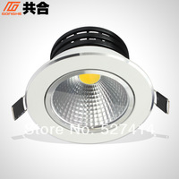 5W downlights, Taiwan Epistar chip COB led spotlights indoor commercial lighting GTHC-0501