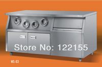Commercial and cup of cola , a center island with storage freezer lockers Prince Western Kitchen brand WS-02A1.2 meters