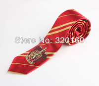 New fashion Red College tie Harry Potter Gryffindor series tie with badge Personality,Cosplay Free Shipping