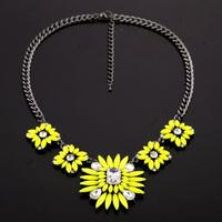 Fashion fashion accessories bohemia neon flower pendant necklace