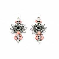 Fashion fashion accessories vintage flower gem earrings