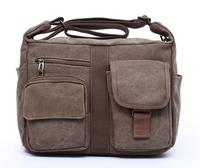 Vintage shoulder bag designer casual canvas shoulder women messenger bag free shipping