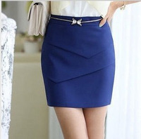 New Arrival 2014  Summer Women  Bust Skirts OL Slim Hip  Fomal Pencil Skirts   High Waist  S/M/L/XL/2XL  Black  Blue