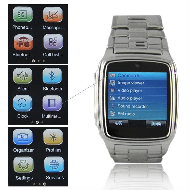 "Brand New Unlocked 1.6"" inch Touch Wrist Mobile Cell Phone Bluetooth FM Handfree MP4 GSM GPRS SIM Design Camera Mini DVR TW810(China (Mainland))"
