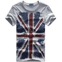 2014 New Arrive men's torx flag pattern t-shirts men's fashion short sleeve T-shirt Big size S-4XL Free shipping D108