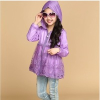 New Arrival 2014  Beautiful Kids Jackets Coats For Girl High Quality Coats And Jackets For Children Sun Protection Clothing