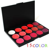 Hot Pro 15 Color Makeup Cosmetic Lip Gloss Lipstick Palette Set(1423)