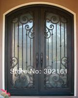 Best iron doors ETN D020 custom glass entry door