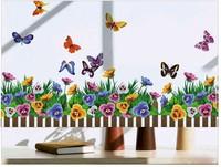 home decor flower butterfly decoration desktop wallpaper bathroom kitchen glass vinyl wall sticker quotes princess loving mural