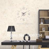 Home Decoration Metallic-feeling 3D DIY Funny Wall Clock Modern Design Decorative Fashion Roman Numeral Wall Clocks