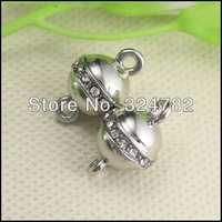 30PCS Antique Silver Tone Crystal Strong Ball shape Magnetic Clasps for making Bracelet / Necklace jewelry findings