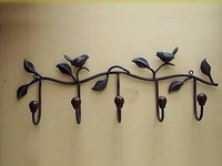 Derlook rose iron hook wrought iron wall coat rack
