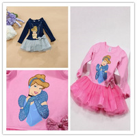 free shipping Kids Girls Dress Long sleeve princess dress circle Korean Fashion children's clothing