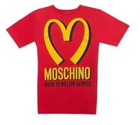 new 2014 women Paris fashion week yellow M print short sleeve tee dress,McDonald's chips red cotton long t-shirt one piece dress
