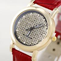 Hot Market! Wholesale Rhinestone Studded Special Supply New Fashion Women Leather Quartz Watch