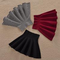 Free shipping spring pleated skirt female high waist sheds autumn and winter basic knitted bust skirt short skirt slim hip skirt