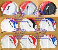 Ying fat yingfa swimming cap silica gel swimming cap granule national flag swimming cap 9