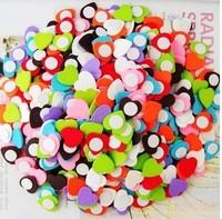 032145 Colorful wooden love heart Wooden cartoon sponge stick Fridge Magnet crafts gifts handmade
