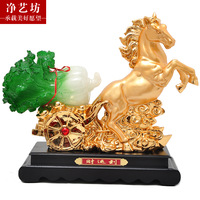 free shipping Horse decoration chinese cabbage business gift office desk indoor decoration