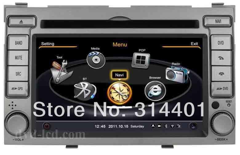 Hyundai I20 car DVD player GPS navigation autoradio radio headunit Ipod BT 3G TV HD LCD A8 chipset 3zone(China (Mainland))