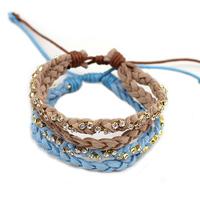 Free Shipping~~2014 New Jewelery Leather Crystal Bracelets Friendship Bracelets B1037
