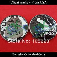 Custom enamel challenge coin from USA