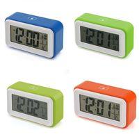 Snooze Digital Alarm Atmo Clock LCD Display Light Sensor Control Temperature New 95275-95278