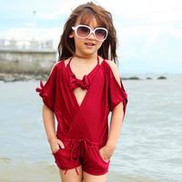 Free shipping 2014 134 child bathing suit girls swimsuit child bathing suit skirt bikini baby bikinis swimwear