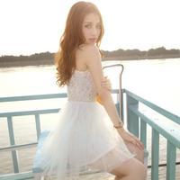 Summer preppy style sweet romantic multi-layer gauze bxq160018 puff skirt