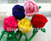 high quality 7 color wedding gift ,rose flower,Cartoon artificial flowers/plush toys 40cm 7pcs/lot& free gift
