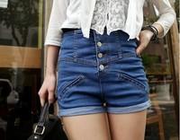 new fashion spring summer 2014 new plus size casual high waist short  jeans shorts women a denim shorts