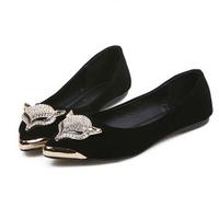 2014 new women casual fox shoes rhinestone flats spring autumn flat shoes U216