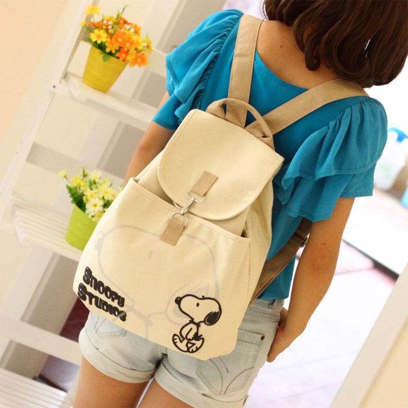 Student school bag canvas backpack female preppy style backpack bag Canvas shoulder bag women messenger women bag backpack(China (Mainland))