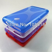 200pcs/lot Free shipping New X TPU Silicone Gel case for Sony Xperia E1