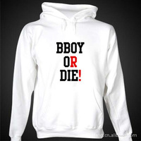 Wholesale cotton hip-hop BBOY OR DIE high quality essential pullover sweater hoodie XS-XXL Free Shipping