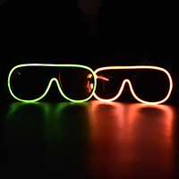 Style led glasses music sparkle glasses 2 nice color